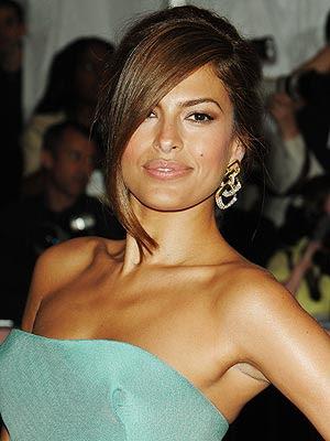 makeup looks for brown eyes. EVA MENDES#39;S ELEGANT EYES