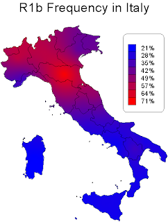 Italy DNA Project: R1b in Italy