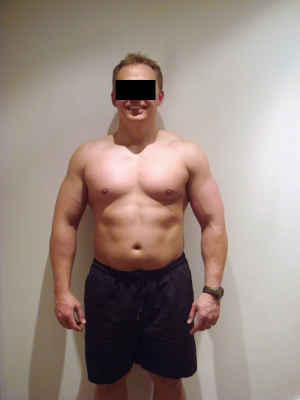 Julian — Front picture during Leangains — 208lbs