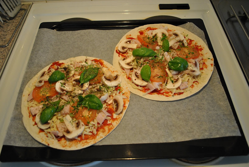 Two homeade pizzas