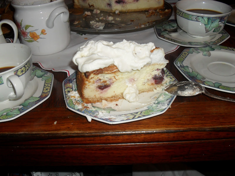 Portion of cheesecake on a plate