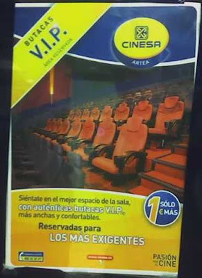 butacas vip en el cine
