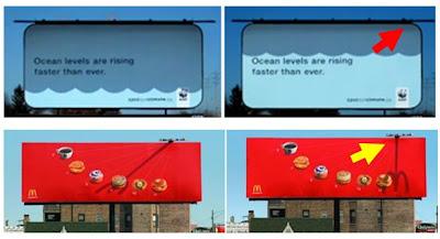 aprovechandonos del sol para hacer publicidad