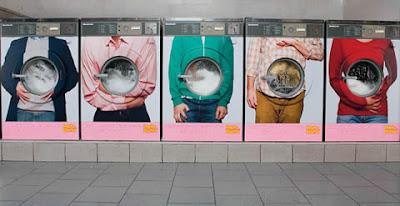 publicidad hasta en las lavadoras