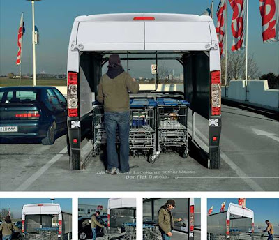 publicidad hasta en el parking de los carritos
