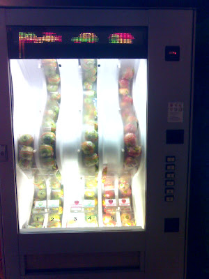máquina vending manzanas