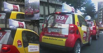 caravana publicitaria con smart