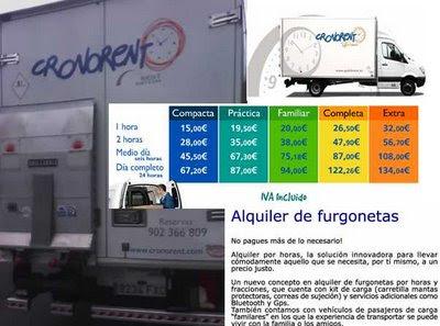 alquiler furgonetas por horas
