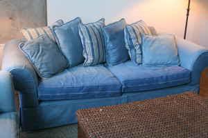 D Listed Decor Comfy And Soft Denim Sofa 125