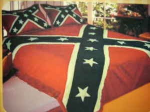 D Listed Decor Twin Size Comforter Rebel Flag 40