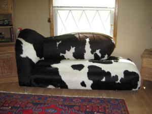 D Listed Decor Cow Print Club Chair 150 Chaise Hide