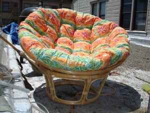 D Listed Decor Big Tropical Bamboo Round Chair 50