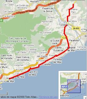 Aviat començaran les obres de millora de la N2 des d'Arenys i fins a Tordera.