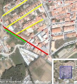 La instal·lació d'aparcaments al barri de St. Lluís obliga a tallar un carrer dos mesos i mig.