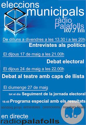Seguiment de les eleccions municipals a Ràdio Palafolls