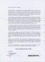 El PP respon a la carta socialista amb una altra carta.
