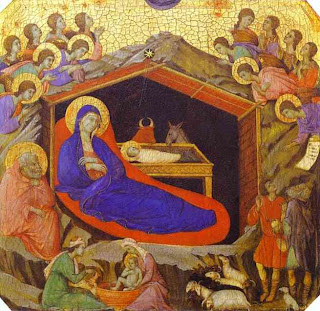 Duccio di Buoninsegna - The Birth of Christ from the predella of the Maestà (1308-1311)