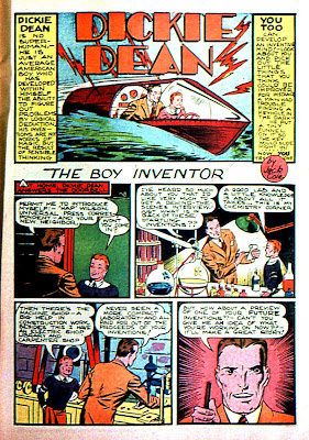 Dickie Dean boy inventor appears in this classic collector comic book from by Jack Cole.