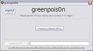 Greenpois0n; Tutorial Jailbreak iPhone 4, 3GS, iPod touch 4G, iPad