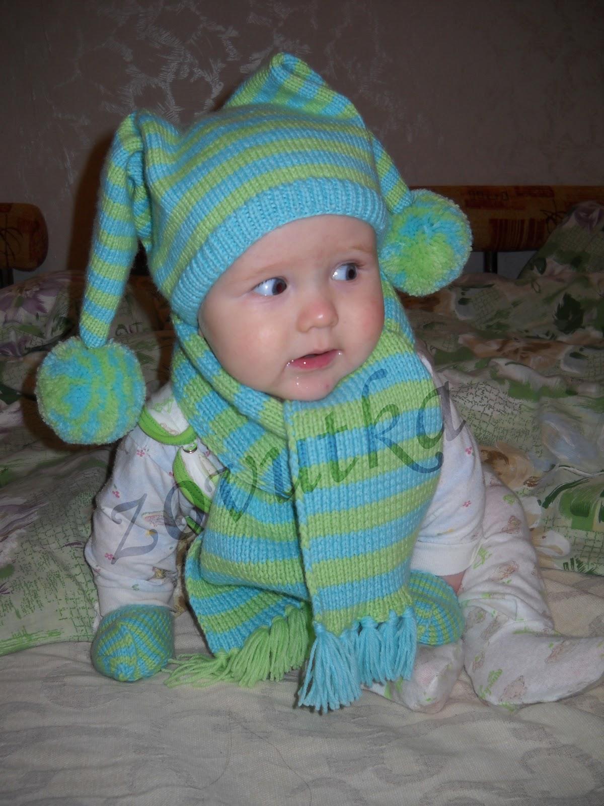 по вязанию. шапочка для малыша спицами.  Автор:Admin.