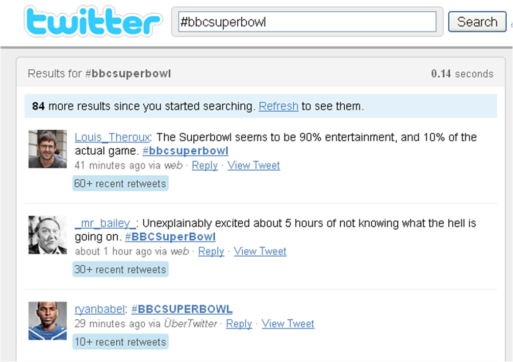 BBC Super Bowl Coverage A Hit On Twitter's Trending Topics