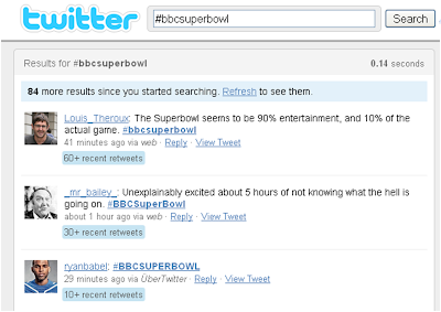 BBC Super Bowl tweets