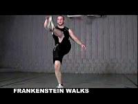 Упражнение для ног, походка Франкенштейна