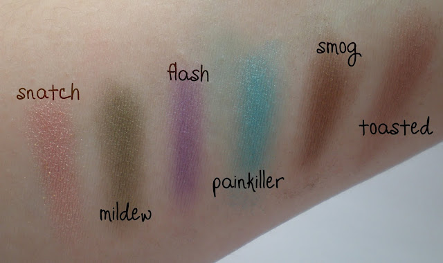 Urban Decay Preen Palette swatches