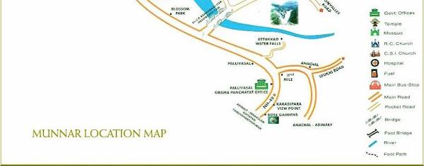 Munnar Map , Munnnar Location Map,Munnar Tourist Map,City ...