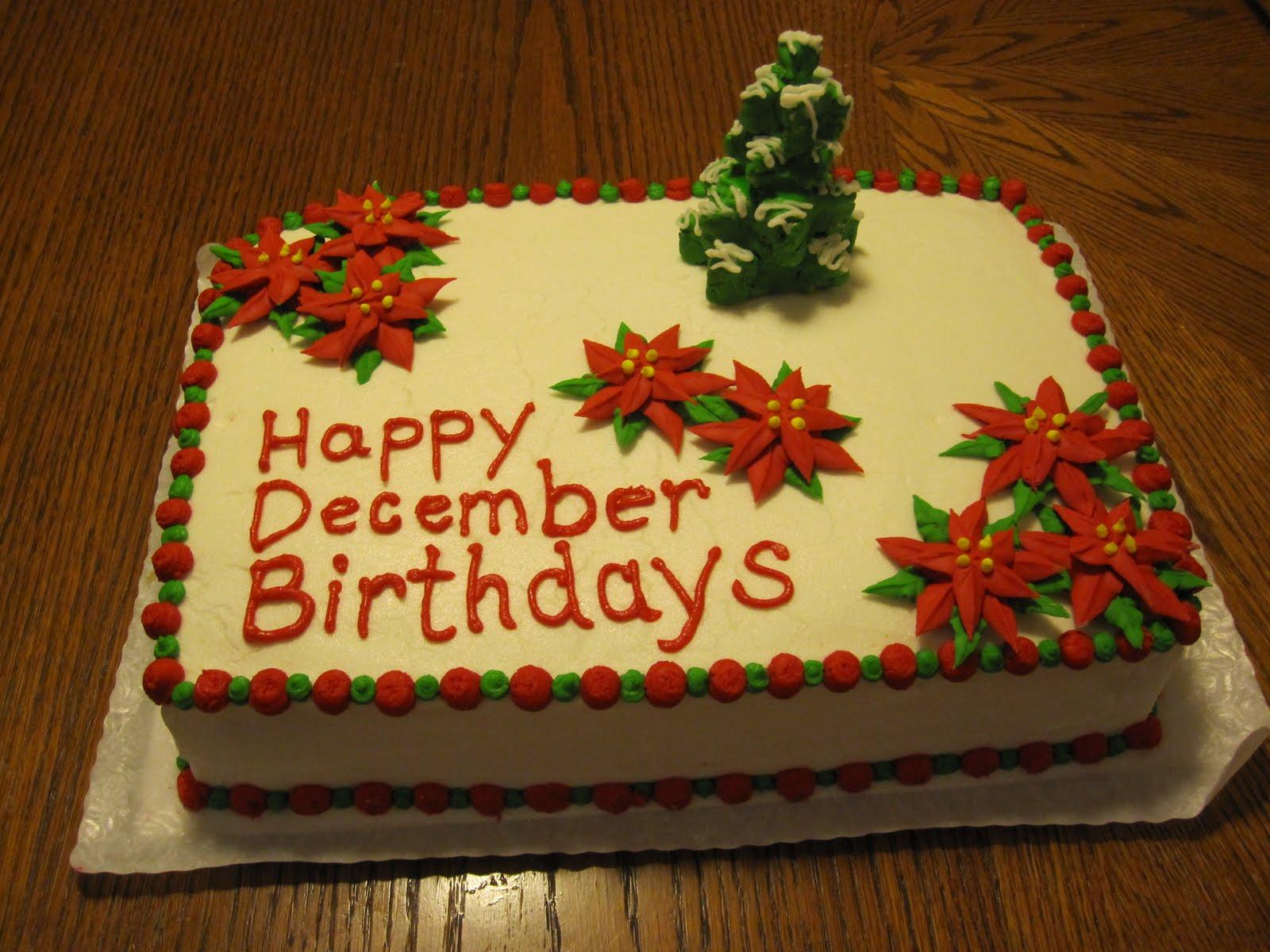 Taste & See Cake Design: Happy December Birthdays