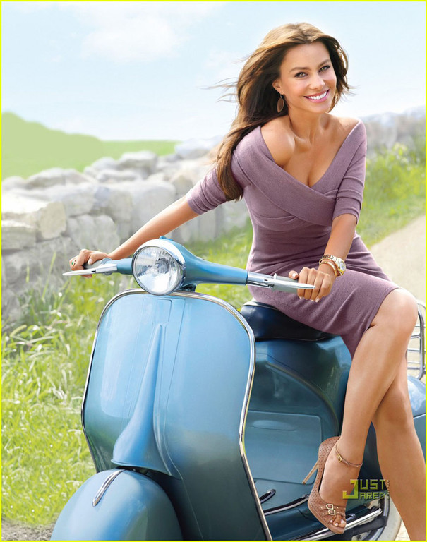 Show Me a Bike: Sofia Vergara on Vespa