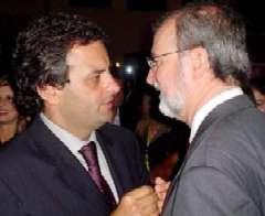 Aecio Neves e Eduardo Azeredo no mensalão mineiro