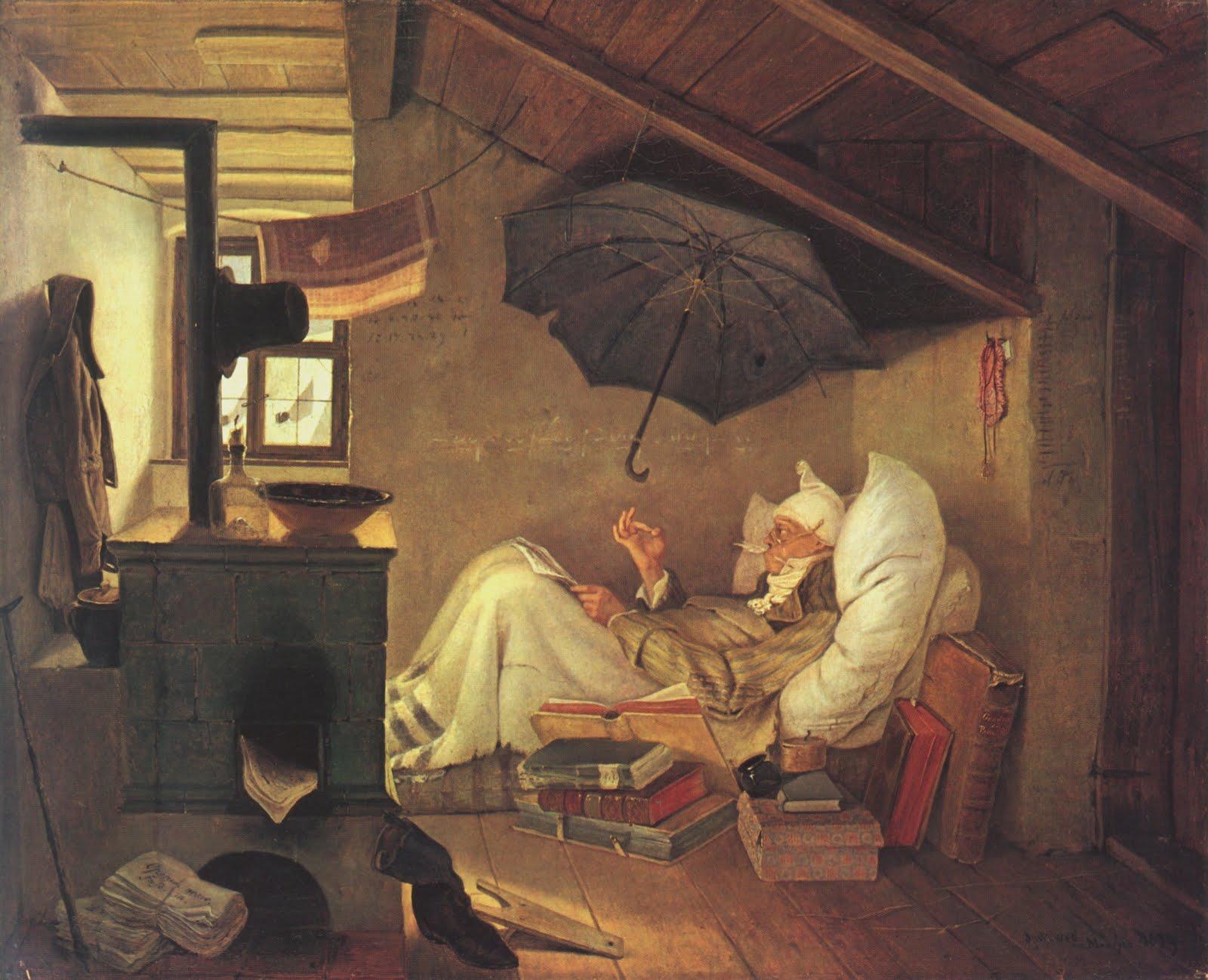 Christopher Volpe S Art Blog Spitzweg The Poor Poet