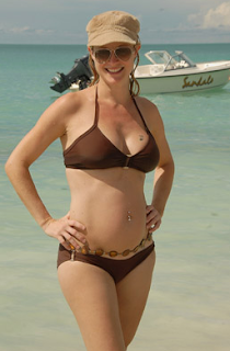 Expectant Mom Terri Polo At Sandals