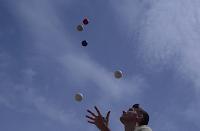 Jonglieren - Fitnessübungen für Zuhause