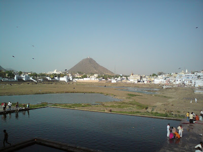 Top View of the dried Pushkar Lake