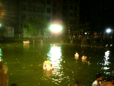 Ganpati Visarjan in artificial lake Mumbai