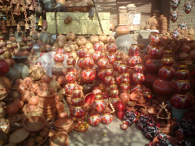 A pottery shop on the streets of Jaipur