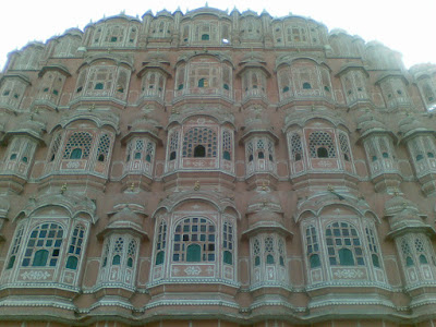 Magnificient structure of Hawa Mahal  - Jaipur