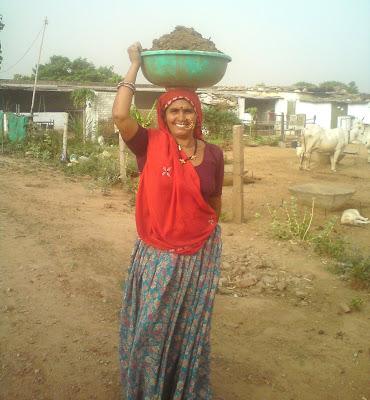 Traditionally attired Rajasthani woman