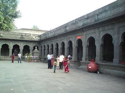 The large Kalaram Temple courtyard - Nashik
