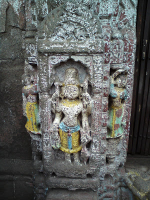 Beautiful carvings on the Sundar Narayan Temple in Nashik