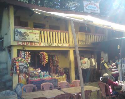 The dhaba where we had our lunch near Gangotri