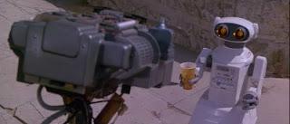 Cortocircuito y su amigo cafetero