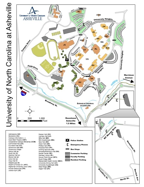 Western North Carolina GIS: UNCA Campus Mapping Project