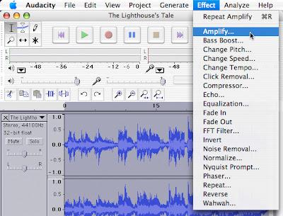 OS X Amplitude Menu Effect Amplify
