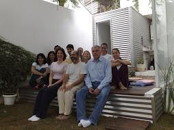 Com alunos no jardim da Citara!