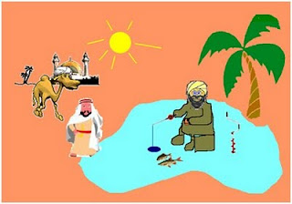И арабские шейхам не чуждо увлечение подледным ловом рыбы