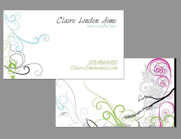 landscaping business card templates