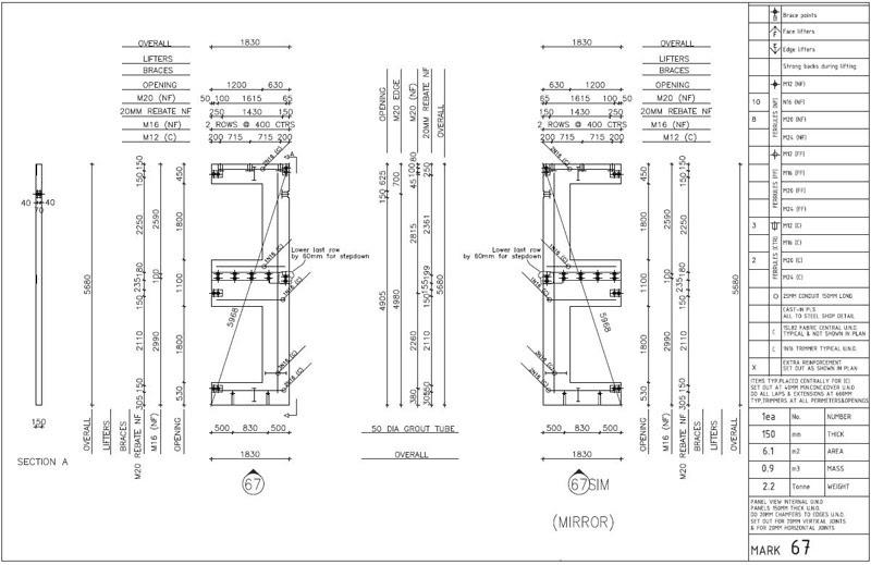 Prestressed / Precast Concrete Detailing Services ~ Steel